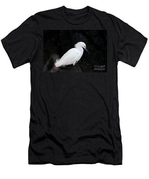 Young Snowy Egret Men's T-Shirt (Slim Fit) by Susan Wiedmann
