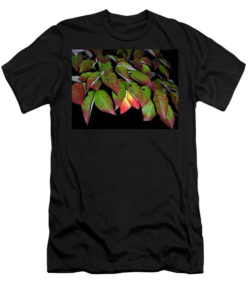 Men's T-Shirt (Slim Fit) featuring the photograph Your Colors Are Showing by Lew Davis