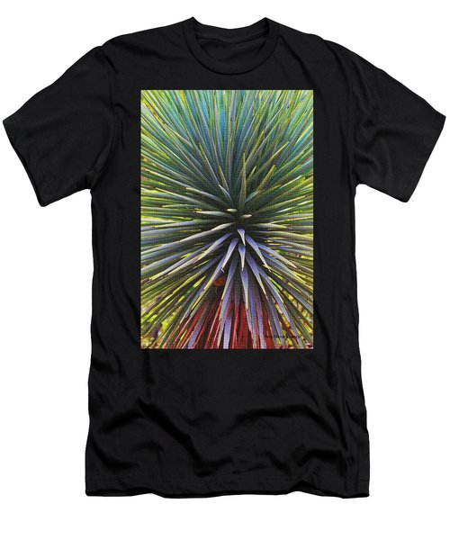Men's T-Shirt (Slim Fit) featuring the photograph Yucca At The Arboretum by Tom Janca