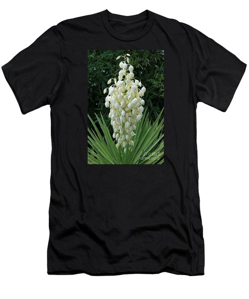 Yucca Blossoms Men's T-Shirt (Slim Fit) by Christiane Schulze Art And Photography