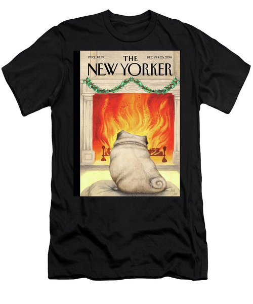 Yule Dog Men's T-Shirt (Athletic Fit)