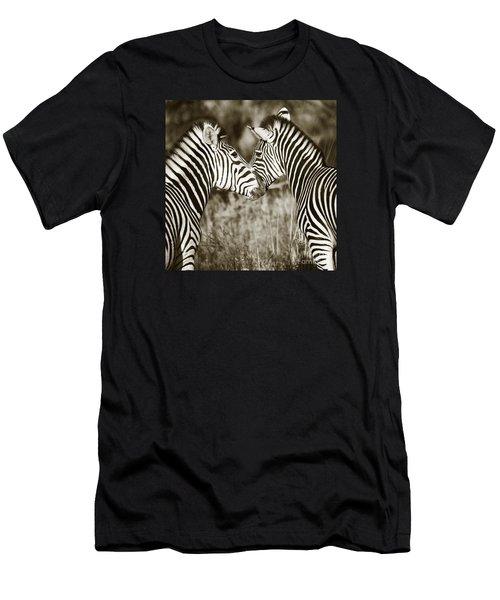 Zebra Affection Men's T-Shirt (Athletic Fit)