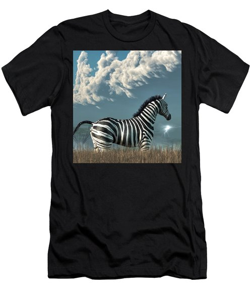 Zebra And Approaching Storm Men's T-Shirt (Athletic Fit)