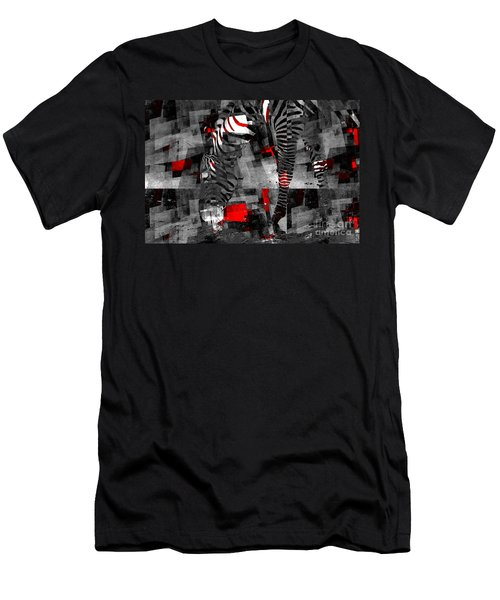 Zebra Art - 56a Men's T-Shirt (Slim Fit) by Variance Collections