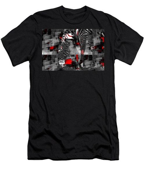 Zebra Art - 56a Men's T-Shirt (Athletic Fit)