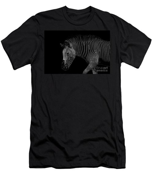 Zebra Art Men's T-Shirt (Athletic Fit)