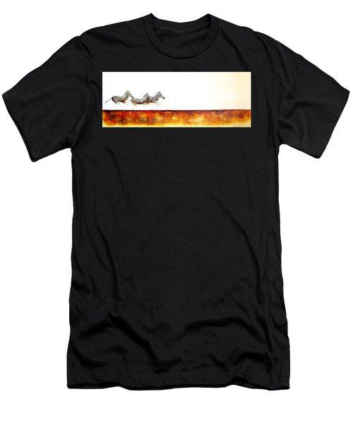 Zebra Crossing - Original Artwork Men's T-Shirt (Athletic Fit)
