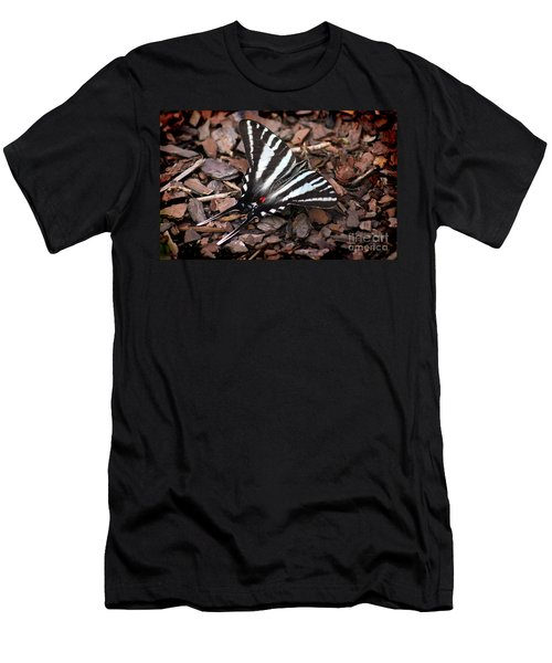 Zebra Swallowtail Butterfly Men's T-Shirt (Athletic Fit)