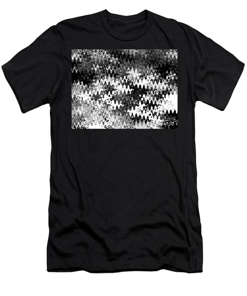 Men's T-Shirt (Slim Fit) featuring the digital art Zebras by Anita Lewis