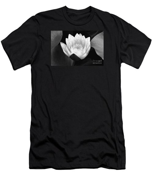 Men's T-Shirt (Slim Fit) featuring the photograph Waterlily Rising  by John F Tsumas