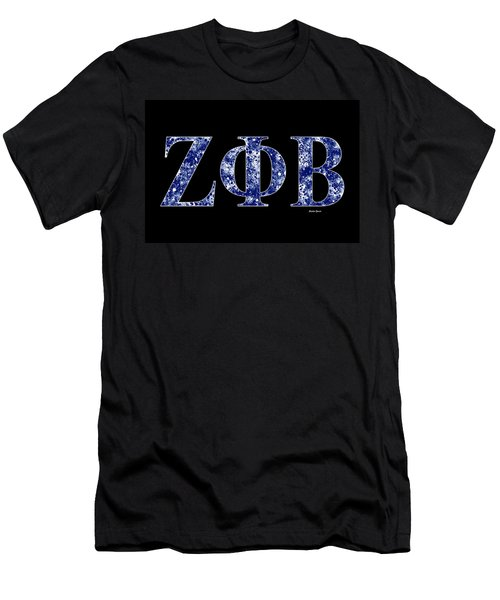 Zeta Phi Beta - Black Men's T-Shirt (Athletic Fit)