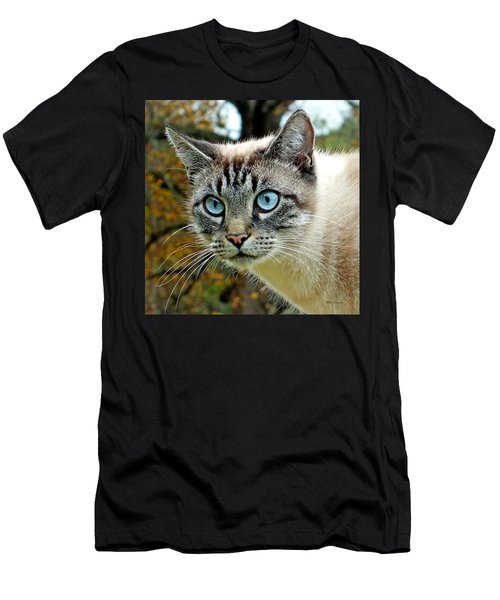 Zing The Cat Upclose Men's T-Shirt (Athletic Fit)