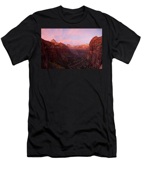 Zion Canyon At Sunset, Zion National Men's T-Shirt (Athletic Fit)