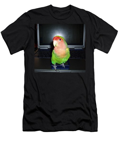 Men's T-Shirt (Slim Fit) featuring the photograph Zippy The Lovebird by Joan Reese