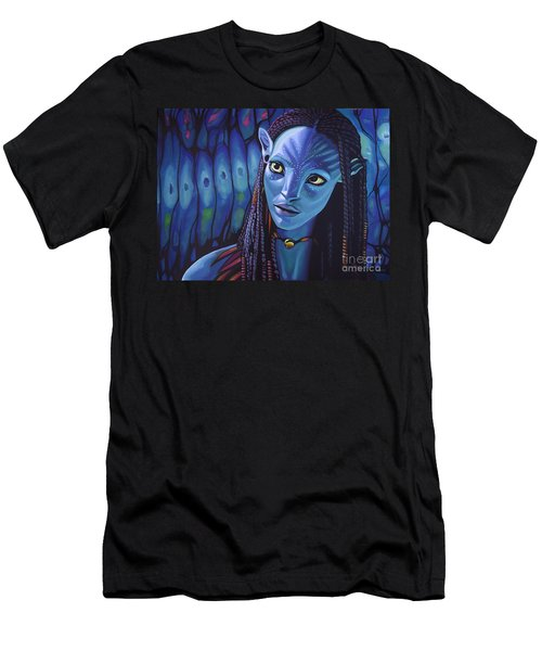 Zoe Saldana As Neytiri In Avatar Men's T-Shirt (Athletic Fit)