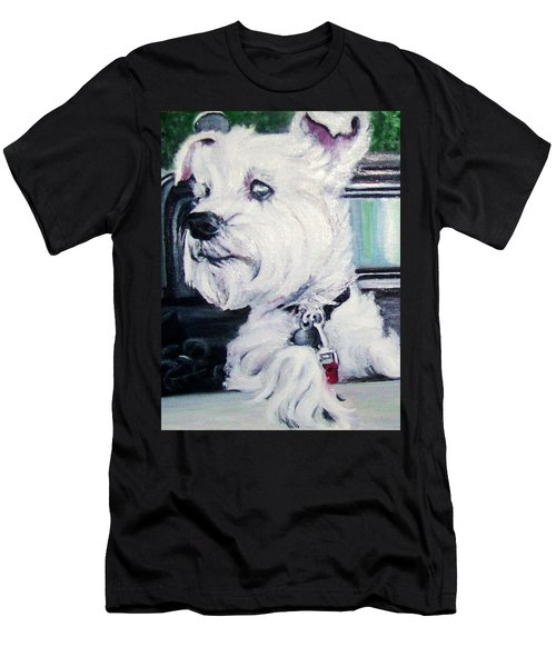 Zoey Waits For A Ride Men's T-Shirt (Athletic Fit)