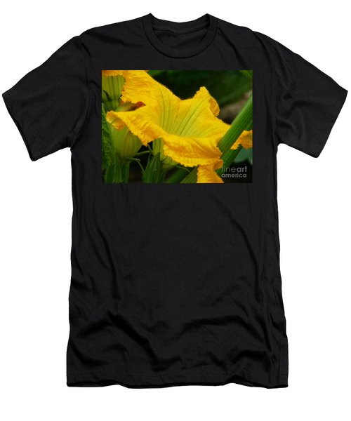 Men's T-Shirt (Slim Fit) featuring the photograph Zucchini Yellow by Lew Davis