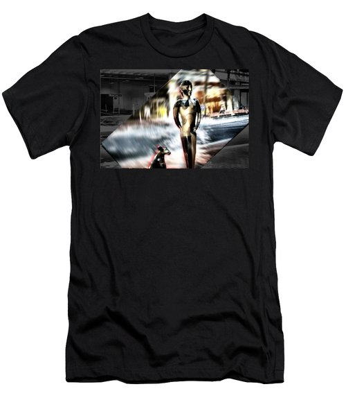 Men's T-Shirt (Slim Fit) featuring the mixed media  Critics by Terence Morrissey