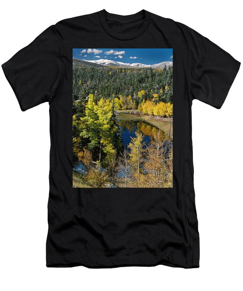 Fall Color On Bobcat Pass Men's T-Shirt (Athletic Fit)