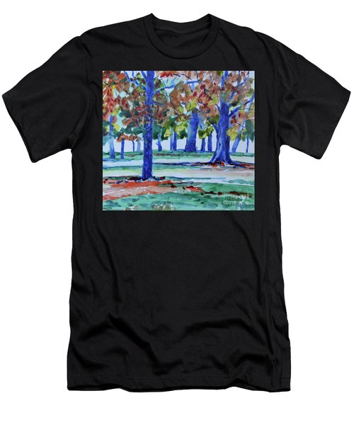 Fall In My Backyard Men's T-Shirt (Athletic Fit)