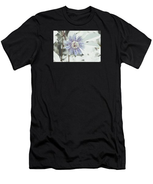 Passion Flower On White Men's T-Shirt (Athletic Fit)