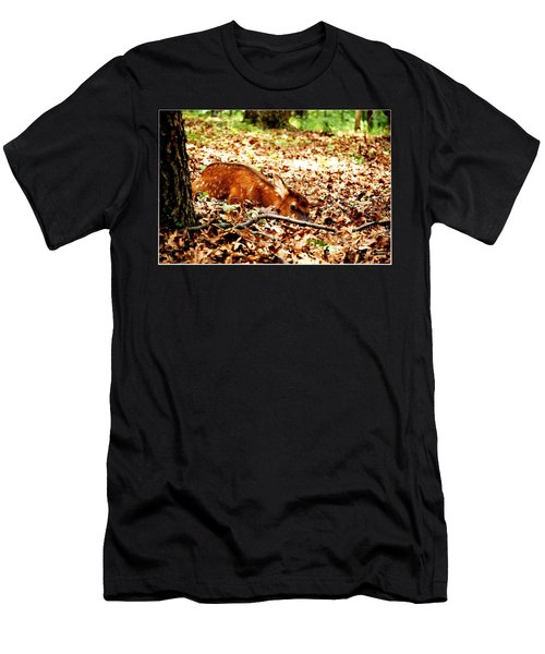 Men's T-Shirt (Slim Fit) featuring the photograph  Sweet Baby Elk by Peggy Franz