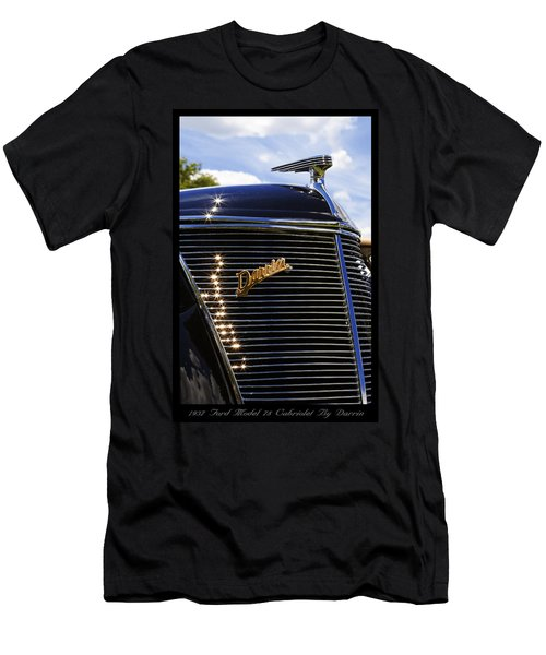 Men's T-Shirt (Slim Fit) featuring the photograph 1937 Ford Model 78 Cabriolet Convertible By Darrin by Gordon Dean II