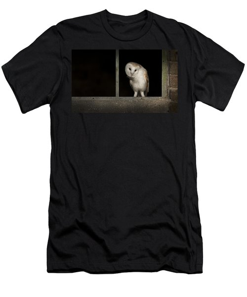 Barn Owl In Window Men's T-Shirt (Athletic Fit)