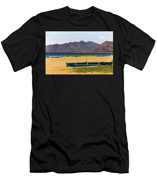 Boats On South China Sea Beach Men's T-Shirt (Athletic Fit)
