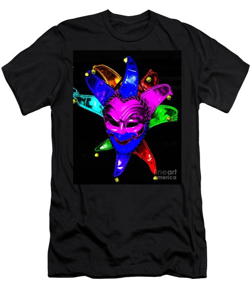 Men's T-Shirt (Slim Fit) featuring the digital art Carnival Mask by Blair Stuart