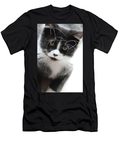 Cat In Chaotic Thought Men's T-Shirt (Athletic Fit)