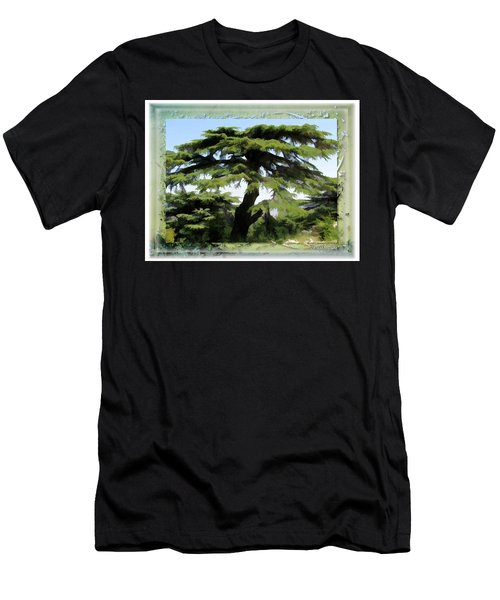 Do-00512 Cedar Forest Men's T-Shirt (Slim Fit) by Digital Oil