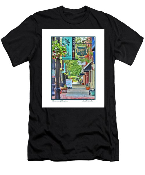 Downtown Willoughby Men's T-Shirt (Athletic Fit)