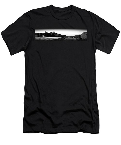 Edinburgh Station Panorama Men's T-Shirt (Athletic Fit)