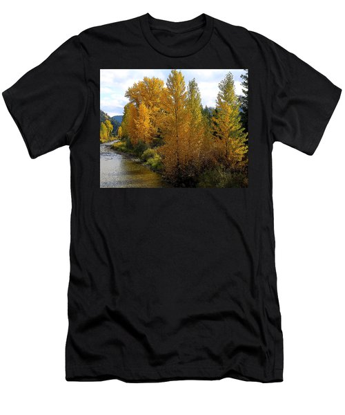 Men's T-Shirt (Slim Fit) featuring the photograph Fall Colors by Steve McKinzie