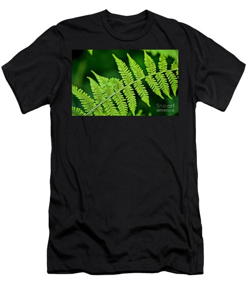 Men's T-Shirt (Slim Fit) featuring the photograph Fern Seed by Sharon Elliott