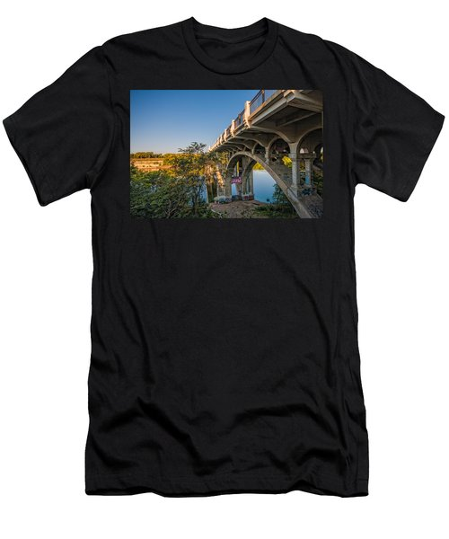Men's T-Shirt (Slim Fit) featuring the photograph Ford Parkway Bridge by Tom Gort