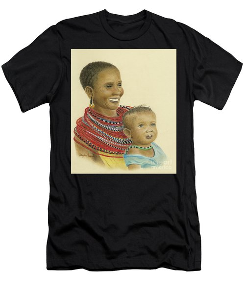 Masai Mom And Babe Men's T-Shirt (Athletic Fit)