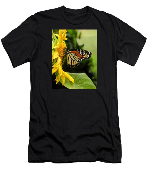 Monarch And The Sunflower Men's T-Shirt (Athletic Fit)