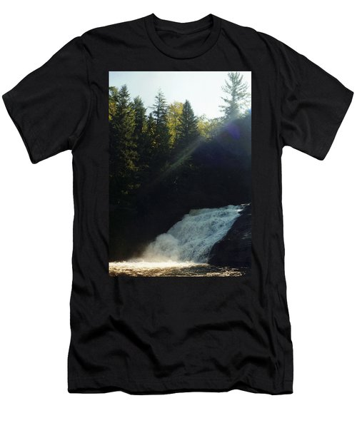 Men's T-Shirt (Slim Fit) featuring the photograph Morning Waterfall by Stacy C Bottoms