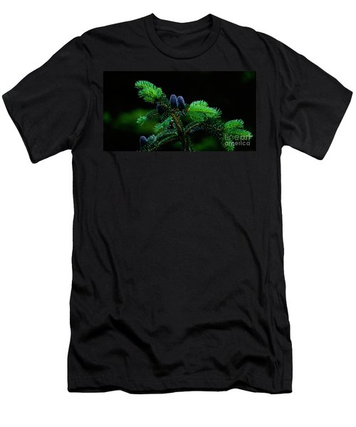 Men's T-Shirt (Slim Fit) featuring the photograph Mountain Life by Sharon Elliott