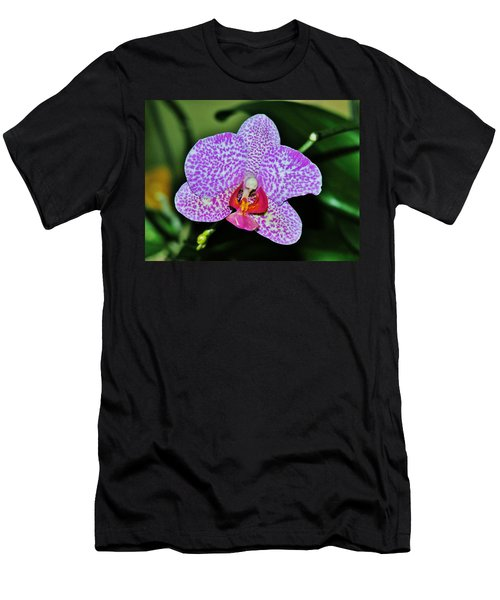 Men's T-Shirt (Slim Fit) featuring the photograph Purple Orchid by Sherman Perry