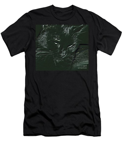 Men's T-Shirt (Slim Fit) featuring the photograph Satin by Donna Brown