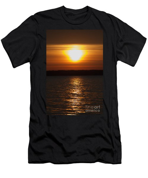 Men's T-Shirt (Slim Fit) featuring the photograph Sunrise On Seneca Lake by William Norton