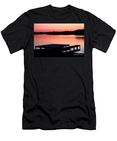 Men's T-Shirt (Slim Fit) featuring the photograph Sunset View From Dockside by Kathy  White