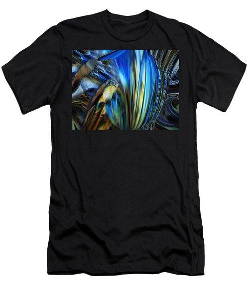 Men's T-Shirt (Slim Fit) featuring the digital art Wealth Weary by Steve Sperry