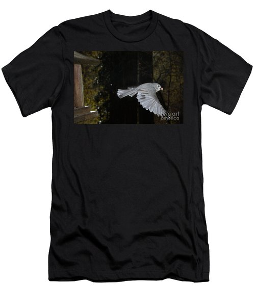 Tufted Titmouse In Flight Men's T-Shirt (Athletic Fit)