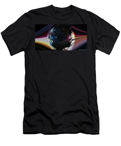 Men's T-Shirt (Athletic Fit) featuring the digital art The Eye by Mihaela Stancu
