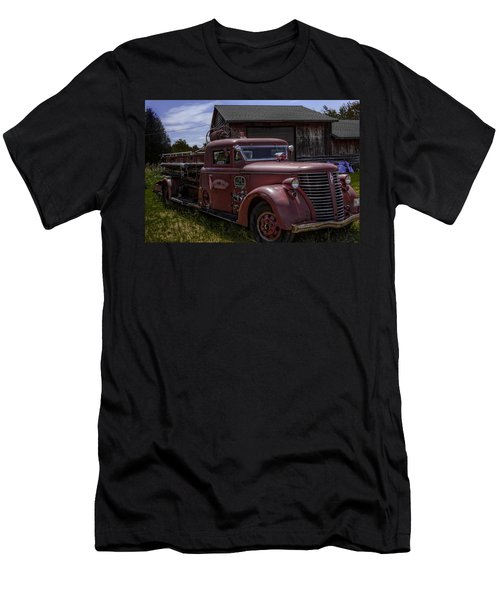 Men's T-Shirt (Slim Fit) featuring the photograph 1939 American Lafrance Foamite by Tom Gort