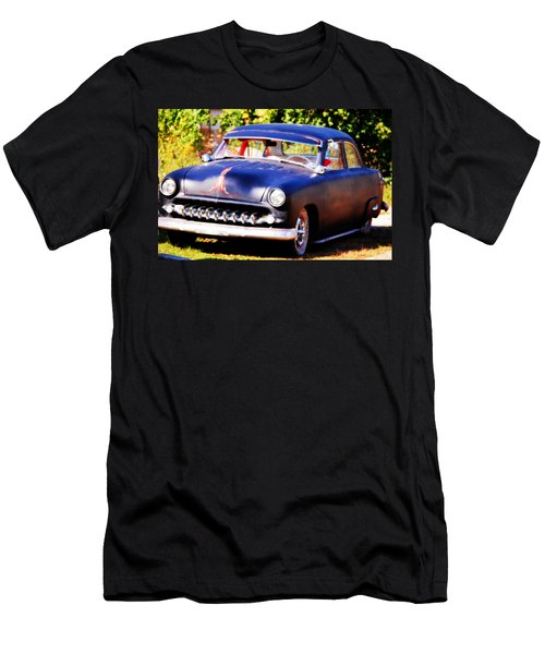 Men's T-Shirt (Slim Fit) featuring the photograph 1950 Ford  Vintage by Peggy Franz